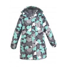 Пальто камуфляж бирюза